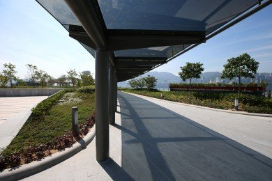 Rooftop Garden Covered Walkway