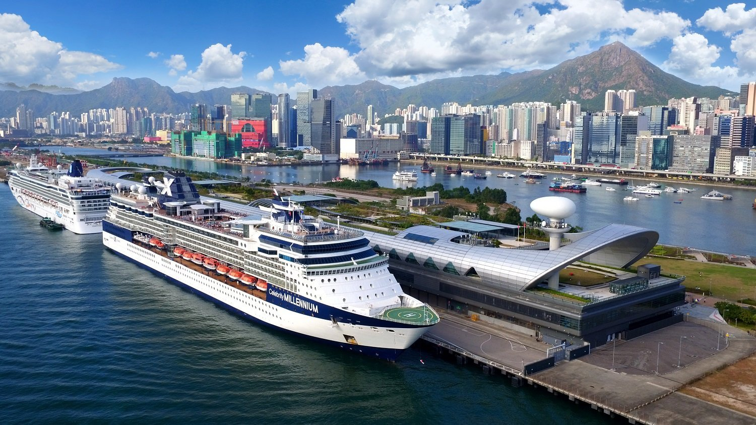 Side View Of Kai Tak Cruise Terminal